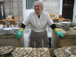 посещение рынка устриц в Виго