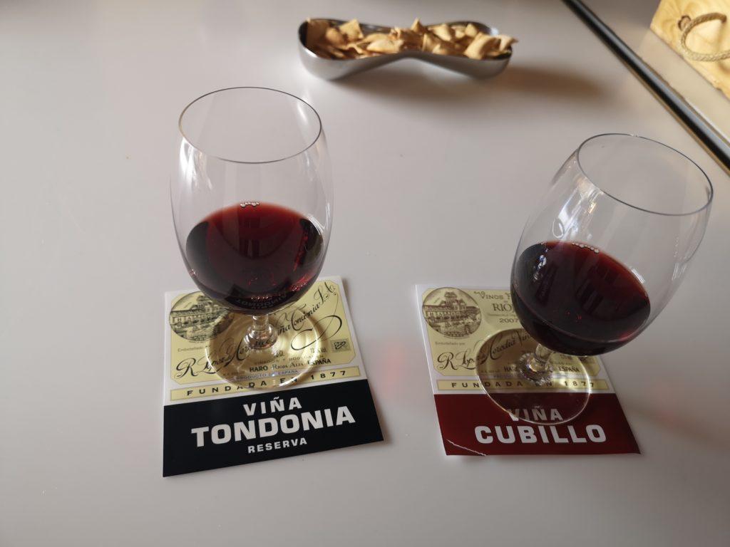 Дегустация разных типов вин Лопес Эредия