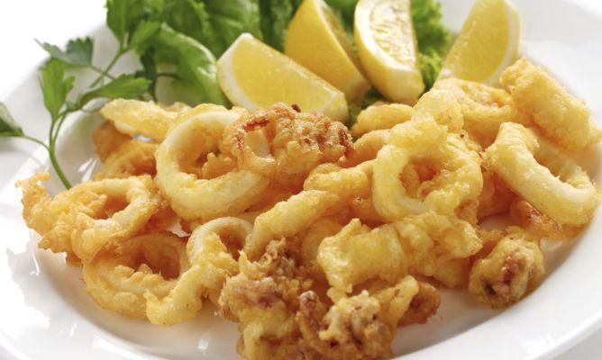 Calamares- жареные кольца кальмаров в кляре
