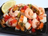 Salpicón de marisco - Холодный салат-винегрет из морепродуктов.