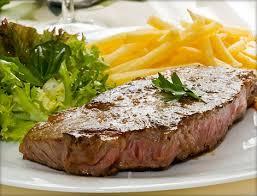 Entrecote – Антрекот на гриле. Чаще всего подается с картошкой фри.