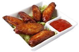 Alitas de pollo al horno – запечённые куриные крылышки, чаще всего подаются с соусом барбекю.