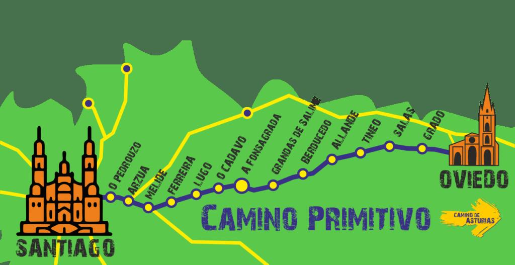 Примитивный путь в Сантьяго де Компостела